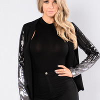 So Flossy Blazer - Black
