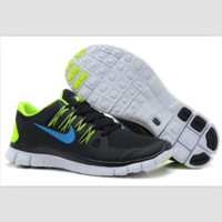 NIKE running breathable casual shock Damping running shoes Black blue