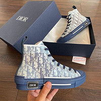 Dior B23 High-Top Blue Oblique Sneaker Shoes