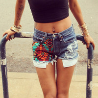 The Betty Short Tribal Print High Waisted by UrbanEclectics