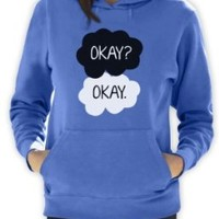 Green Turtle - Okay? Okay California Blue Small Women Hoodie