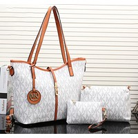 MK classic full letter printing ladies handbag shoulder messenger bag clutch three-piece suit