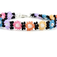 Girl's Daisy Chain Anklet Multi Colored Ankle Bracelet Beaded Anklet Children's Jewelry