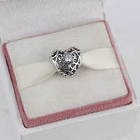 ZMZY April 925 Sterling Silver Charms Heart Birthstone Beads Fits Pandora Charms Bracelet 12 Month Color Choose