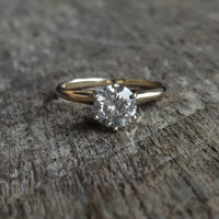 Custom Celestial Diamond Solitaire Ring Gray Diamond Pick Your Diamond