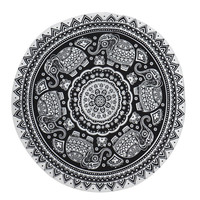 New Design  Round Hippie Tapestry Beach Throw Roundie Mandala Towel Yoga Mat4  Aug1