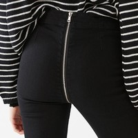 BDG Kick Flare High-Rise Cropped Jean – Zipper Back   Urban Outfitters