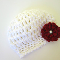Infant Baby Girl Hat in Your Color - Made to Order