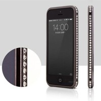 Change Luxury Crystal Rhinestone Diamond Bling Metal Case Cover Bumper for Iphone 5 5s (Rose Gold)