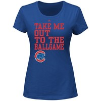 Majestic Chicago Cubs Take Me Out To The Ballgame Tee - Women's