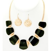 Stone & Metal Necklace
