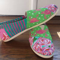 Hand painted Lilly Pulitzer TOMS, Keds, shoes, etc.