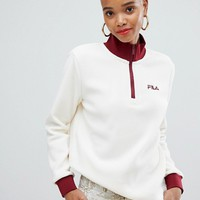 Fila half zip sweatshirt in polar fleece at asos.com