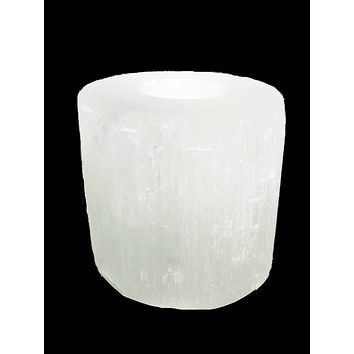 Selenite Tea-Light Cylinder