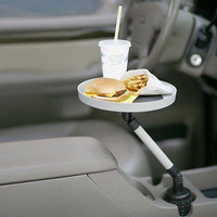 Car Swivel Tray Storage Cup Bin Drinks Food Phone Lunch Vehicle Arm Holder New