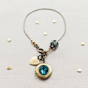 "PERSONALIZABLE ""ELEGANCE"" LOCKET BRACELET - EXCLUSIVE SWAROVSKI"