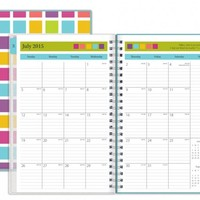 July 2015 - June 2016 Today's Teacher Clear Cover Squares Lesson Plan Book 5x8