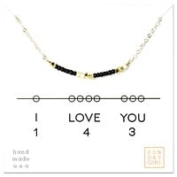 Necklace I Love You 143- Black