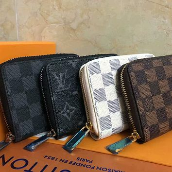 Louis Vuitton LV classic zipper coin purse coin purse fashion men and women multifunctional short wallet