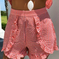 American Pie Shorts: Red/White