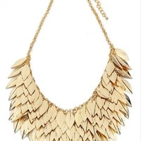 Gold Feather Neacklace