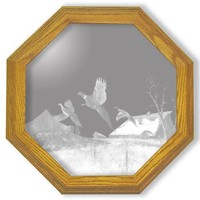 """""""Homestead"""" Pheasant Etched Glass Art Mirrors"""