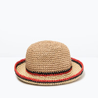 Stripe detail hat