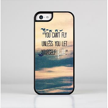 The Pastel Sunset You Cant Fly Unless You Let Yourself Fall Skin-Sert Case for the Apple iPhone 5c