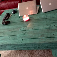 Handmade Solid Wood Coffee Table - Repurposed Wood (Price Drop)