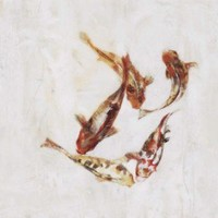 """Paragon Koi I - Plaque by Taylor Candice Olson Art - 26"""" x 26"""" - 6818 - All Wall Art - Wall Art & Coverings - Decor"""