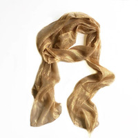Sparkly gold long scarf, Sparkle Gift for Niece, Shimmer fabric scarf, Gift for Best Friend, Coworker Gift, Bling Birthday Gift for Aunt