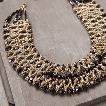 Fit For A Queen Brown Necklace