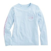 Girls Long-Sleeve Vintage Whale Tee