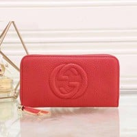 Gucci Women Fashion Leather Zipper Wallet Purse-12