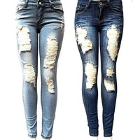 Ripped Jeans New Fashion Boyfriend Denim  Jeans