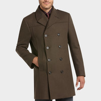 KENNETH COLE NEW YORK OLIVE MODERN FIT TOPCOAT