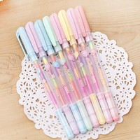 Hot Black Paper Fluorescent Paint Office School Supplies Pens Pencils Writing Markers Highlighters Highlighter Color Change Pen
