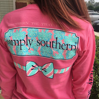 "Simply Southern ""The Tie That Binds Us"" Longsleeve - Pink"