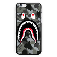 New Best Bape Shark Print On Hard Plastic Case For iPhone 6s, 6s plus, 7/7s