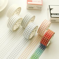 NEW 1X/Lot Pattern for choice stripes/grid Print Scrapbooking DIY Sticker Decorative Masking Washi Tape Paper Japanese 7m
