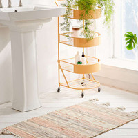 Anza Knotted Trim Dye-Stripe Rug | Urban Outfitters
