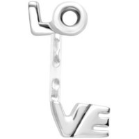Love Stainless Steel Acrylic Push In Eyebrow Ring   Body Candy Body Jewelry