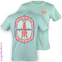 Simply Southern Funny Oil Field Wife GF Chevron Sweet Girlie Bright T Shirt