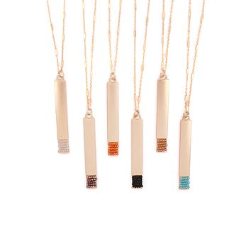 MYN1375 - BAR PENDANT NECKLACE