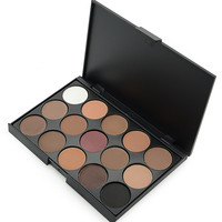Eye Make Up 15 Color Matte Shimmer Pigment Eyeshadow Palette Cosmetic Makeup
