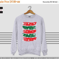 Flat 15% OFF SALE Christmas Sweater Ugly Christmas sweater red and green sweater Sweatshirt Winter is Cunning Jumper Unisex
