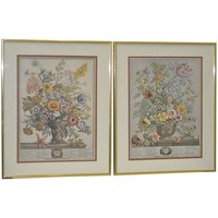 Pre-owned Vintage Hand Colored Botanical Prints - A Pair