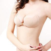 Butterfly Self-Adhesive Push Up Deep-V Silicone Bust Strapless Invisible Bra ABC