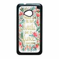Red Flowers Though She Be But Little She Is HTC One M7 Case