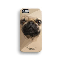 Cream Pug iPhone 6 case, iPhone 6 plus case S643